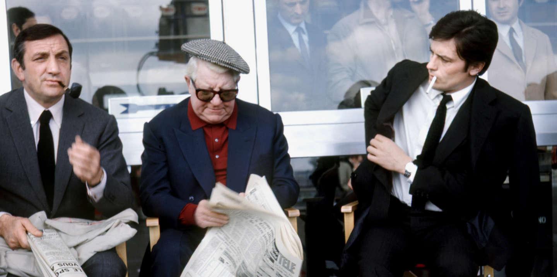 Prod DB © Productions Fox Europa / Films du siecle / DR LE CLAN DES SICILIENS (LE CLAN DES SICILIENS) de Henri Verneuil 1969 FRA avec Lino Ventura, Jean Gabin et Alain Delon sur le tournage