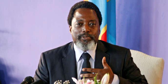 Le président de la République démocratique du Congo Joseph Kabila, à Kinshasa, le 26 janvier 2018.