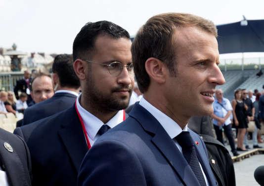 Alexandre Benalla et Emmanuel Macron le 14 juillet 2018.