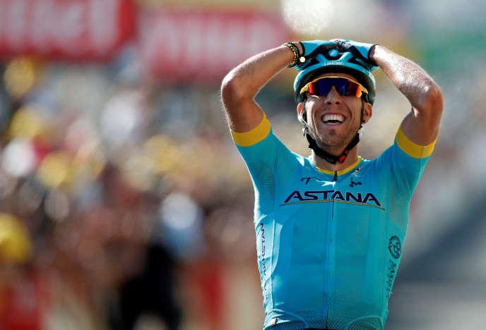 Omar Fraile s'est imposé pour la première fois sur le Tour de France, samedi 21 juillet.