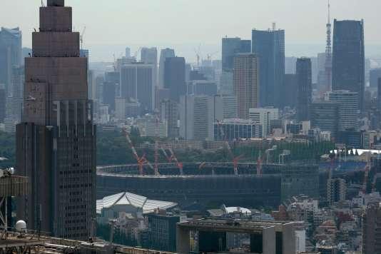 Le nouveau stade de Tokyo en construction pour les Jeux olympiques de 2020, le 20 juillet.