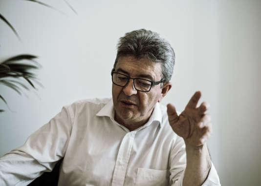 Jean-Luc Mélenchon, dans son bureau de l'Assemblée nationale, le 20 juillet.