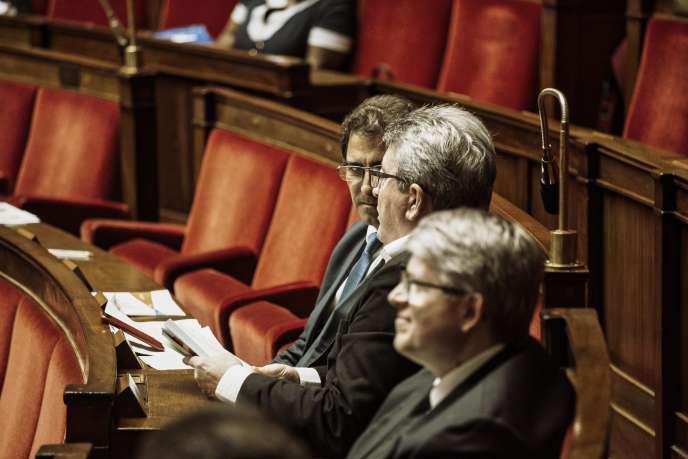 Christian Jacob et Jean-Luc Mélenchon, à l'Assemblée nationale, le 20 juillet.