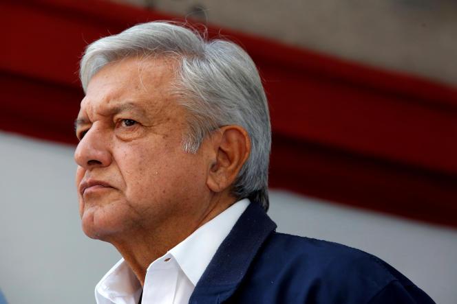 Le président de la République mexicain, Andres Manuel Lopez Obrador, à Mexico, au Mexique, le 22 juillet.