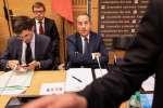 Michel Delpuech, le préfet de police de Paris, arrive pour son audition par la commission d'enquête parlementaire, à l'Assemblée nationale, à Paris, le 23 juillet.