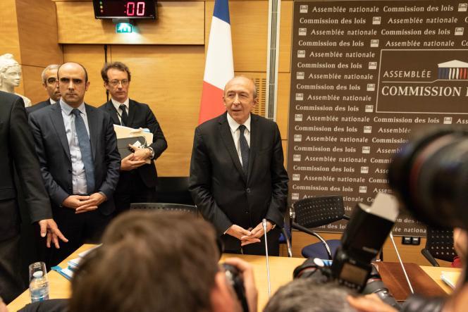Gérard Collomb, ministre de l'intérieur, lors de son audition à l'Assemblée nationale, le 23 juillet.