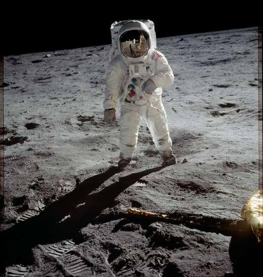 Buzz Aldrin, sur la Lune, le 21 juillet 1969.
