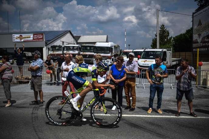 Le coureur français Yoann Offredo, lors de la 7e étape du Tour de France entre Fougères et Chartres