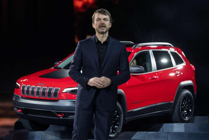 Le Britannique Mike Manley, qui succède à Sergio Marchionne à la tête de Fiat-Chrysler, dirigeait jusqu'ici la marque Jeep.