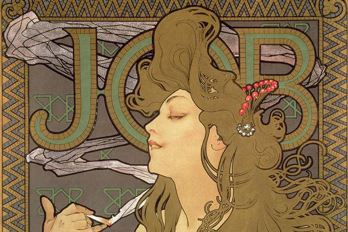 Papier à cigarettes« Job », 1896 ‒ lithographie en couleur, 66,7 x 46,4 cm ‒ Fondation Mucha, Prague.