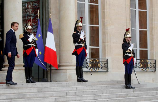 Emmanuel Macron, à l'Elysée, le 20 juillet.