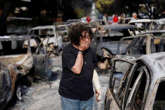 Le bilan provisoire des incendies de forêt qui ont ravagé,lundi 23 juillet au soir, la côte à l'est d'Athènes est évalué, aujourd'hui, par les autorités, à 79morts.