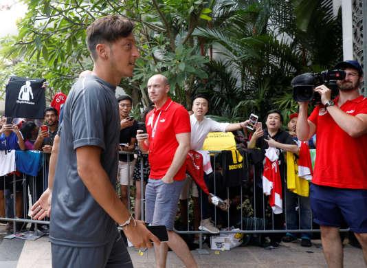 Mesut Özil, le 24 juillet à Singapour.