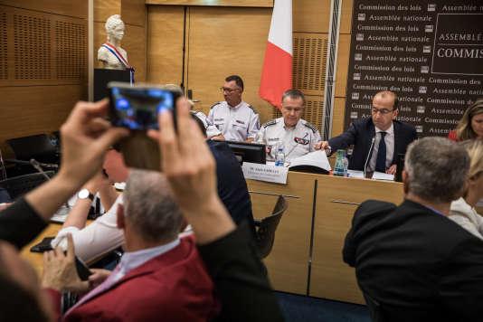 Lundi 23 juillet 2018, à l'Assemblée nationale, 3 eme audition de la journée, Alain Gibelin, directeur de l'ordre public à la préfecture de police de Paris.