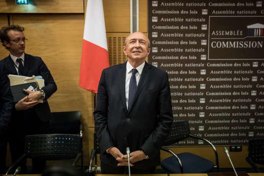 Audition du ministre de l'intérieur, Gérard Collomb, dans le cadre de l'affaire Benalla, à l'Assemblée nationale à Paris, le 23 juillet.