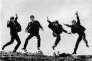Ringo Starr, George Harrison, Paul McCartney et John Lennon. Photo utilisée pour la pochette du disque « Twist and Shout » (1963).