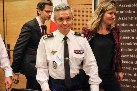 Audition du colonel Lionel Lavergne dans le cadre des travaux parlementaires sur l'affaire Benalla, à l'Assemblée nationale, le 25 juillet 2018.