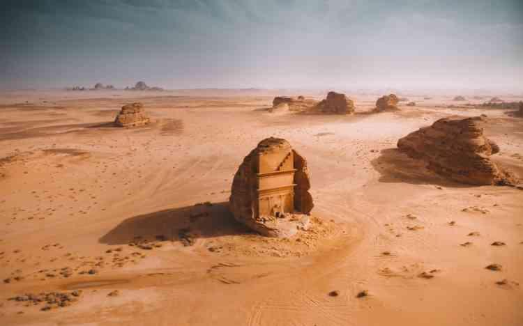 1er prix, catégorie nature :« Mada'in Saleh». Un vestige archéologique en Arabie saoudite, photographié par Gabriel Scanu.