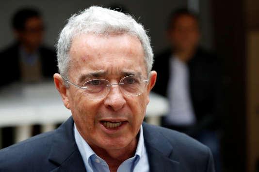 Alvaro Uribe, à Bogota, le 27 mai.