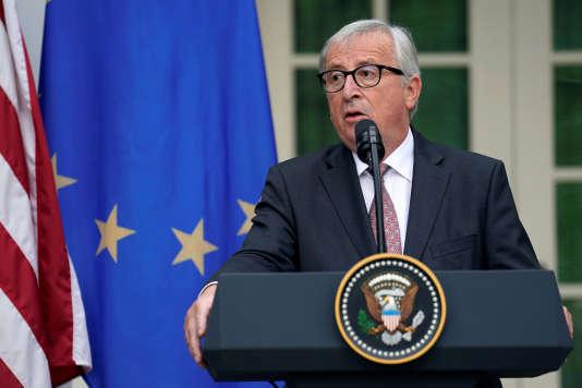 Jean-Claude Juncker, le 25 juillet, à la Maison Blanche.
