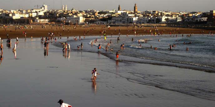 Sur une plage de Salé, au Maroc, en 2012.
