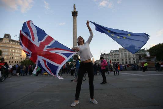 Rassemblement contre le Brexit, sur Trafalgar Square, à Londres, le 13 septembre 2017.