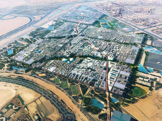 Projet de la ville de Masdar, par l'architecte Norman Foster.