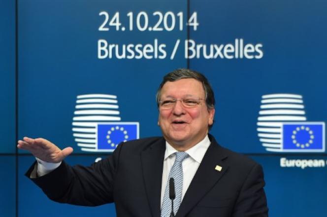 Jose Manuel Barroso, alors président de la Commission européenne, le 24 octobre 2014, à Bruxelles.