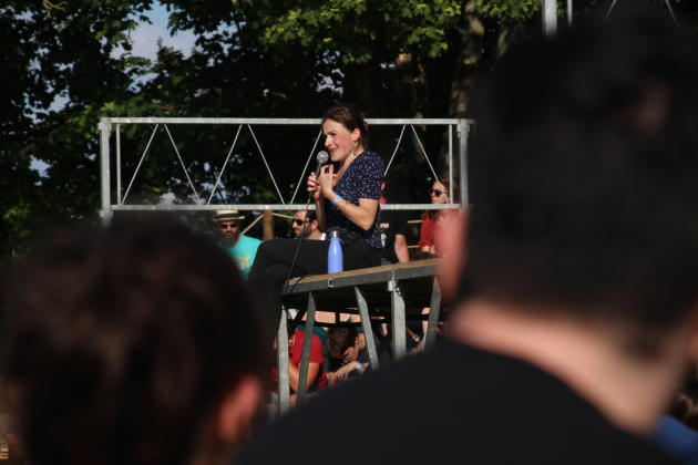 Julie Pilorget fait partie des trois universitaires ayant accepté de venir donner une conférence pendant les Historiques de Montbazon (Indre-et-Loire).