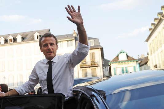 Emmanuel Macron à Bagnères-de-Bigorre (Hautes-Pyrénées), le 25 juillet.