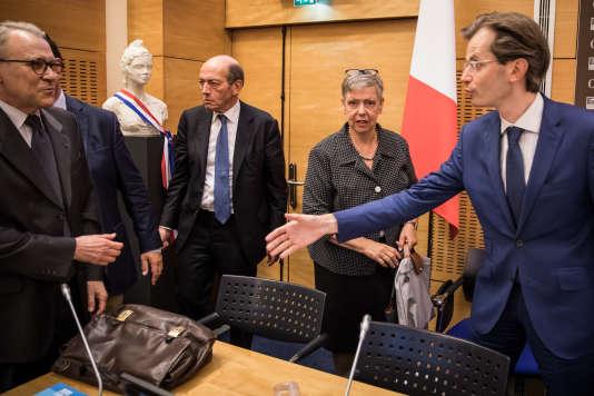 Audition de Marie-France Monéger-Guyomarc'h, directrice de l'IGPN, devant la Commission des lois, à l'Assemblée nationale le 24 juillet.
