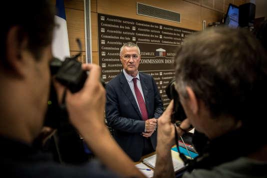 Le directeur de cabinet de l'Elysée, Patrick Strzoda, auditionné devant la Commission des lois à l'Assemblée nationale, le 24 juillet.