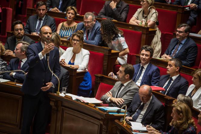 Le premier ministre Edouard Philippe répond aux questions des députés au sujet de l'affaire Benalla, à l'Assemblée nationale, le 24 juillet.