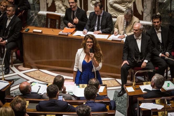 Marlène Schiappa à l'Assemblée nationale.