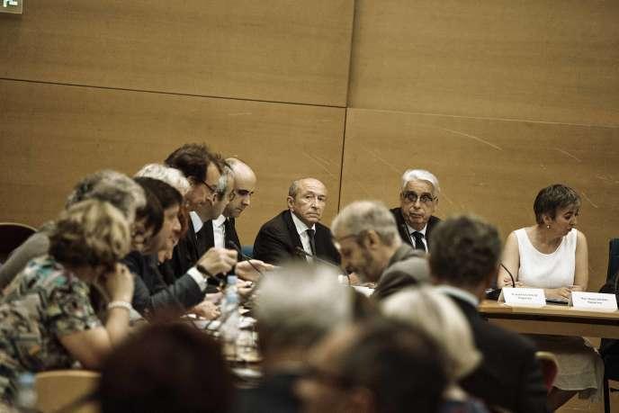 Auditions au Sénat du Ministre de l'intérieur, Gérard Collomb, le mardi 24 juillet 2018.