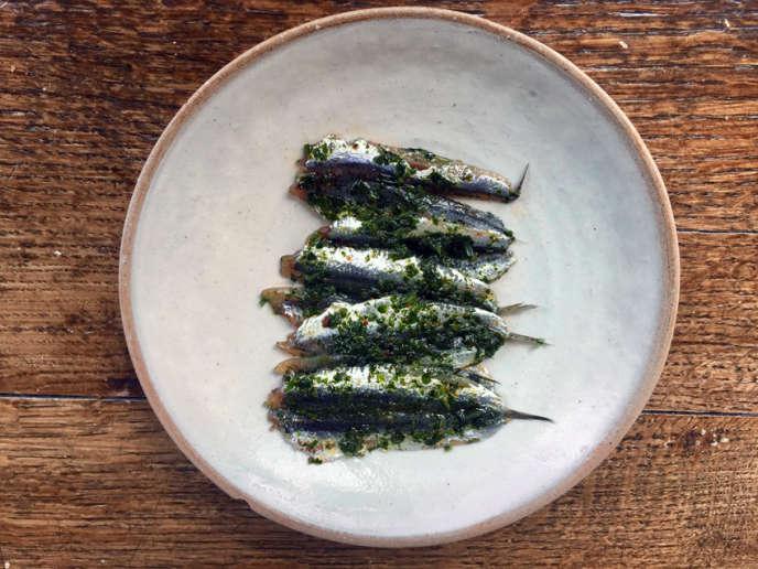 Les anchois marinés de Michele Farnesi