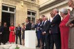 Emmanuel Macron s'est exprimé pour la première fois sur l'affaire Benalla lors d'un pot de fin de session parlementaire le 24 juillet 2018.
