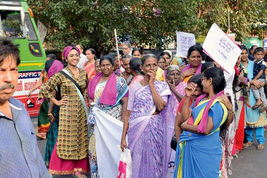 Les employées des magasins du Kerala ont créé en 2016 leur propre syndicat, l'AMTU.