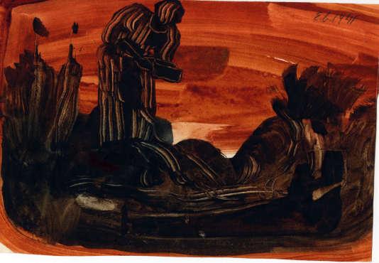 E. Gabritschevsky (n° 261, 14×20,2cm, 1941).