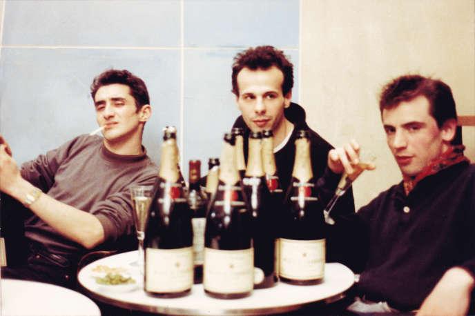 Philippe Perrin, Philippe Parreno et Pierre Joseph à Paris en 1990.