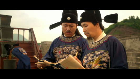 Des astronomes chinois dans la « Chine, l'empire du temps».