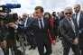 Emmanuel Macron en déplacement dans les Hautes-Pyrénées, au Pic du Midi, pour inaugurer de nouveaux équipements, le 26 juillet.