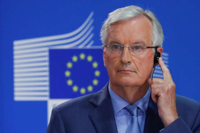 Michel Barnier, ancien commissaire européen, aujourd'hui chargé des négociations sur le Brexit pour le compte de l'Union européenne, le 26juillet.