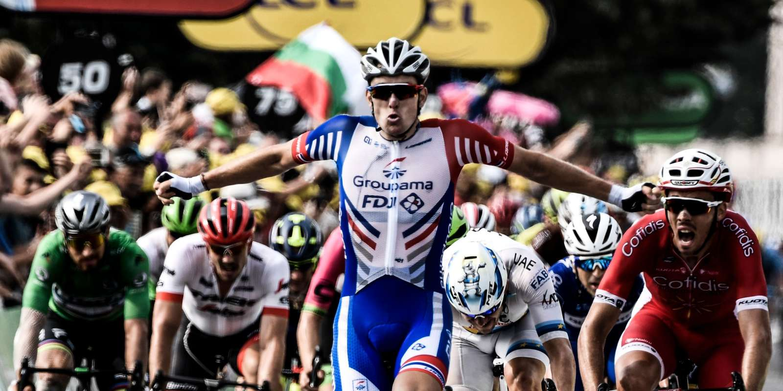 Le Français Arnaud Démare remporte la 18e étape du Tour de France jeudi 26 juillet.