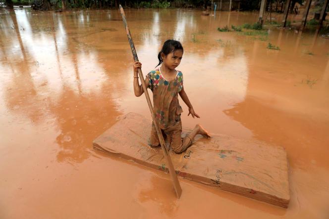 Dans la province d'Attapeu inondée, le 26 juillet.