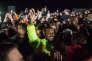 Kanye West entouré d'amis lors d'une soirée d'écoute de son nouvel album, àMoran, dans le Wyoming (Etats-Unis), le 31 mai.