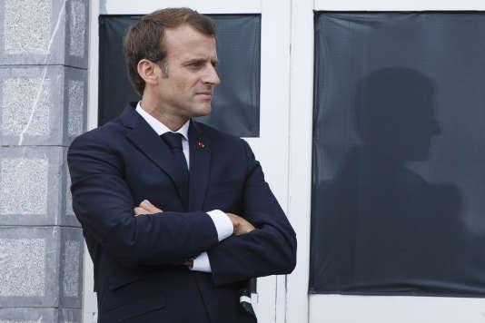 Emmanuel Macron en visite au pic du Midi, à La Mongie (Hautes-Pyrénées), le 26 juillet.