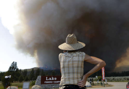 Incendie à Mountain Center, en Californie, le 26 juillet.
