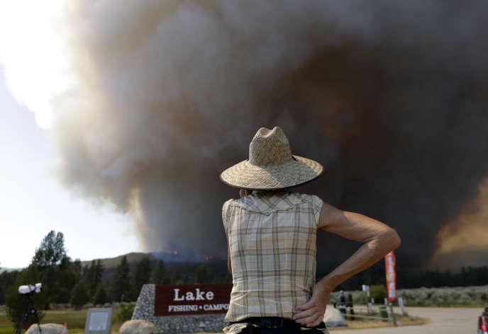 Incendie à Mountain Center, en Californie, le 26 juillet.