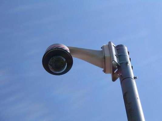 Une caméra de vidéosurveillance de rue.